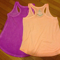 Monogram racerback tank with or without by TheMonogrammingQueen