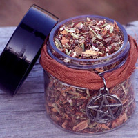 SAMHAIN SPIRIT NIGHT Traditional Blend Sacred Sabbat Smudge Incense with Sweet Madagascar Cinnamon and Much More