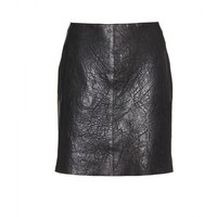 mytheresa.com -  Carven - TEXTURED LEATHER MINI SKIRT - Luxury Fashion for Women / Designer clothing, shoes, bags