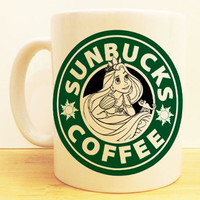 Sunbucks Coffee Mug |  Rapnunzel Tangled Starbucks |  Disney Princess