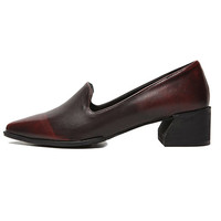 Stacked Heel Loafers