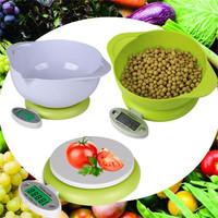 New !!! Practical 5KG/1g LCD Display Digital Scale Electronic Kitchen Food Diet Postal Scale Weight Tool with Tray Green