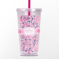 Tumbler With Straw- Delta Gamma - Lilly Pulitzer