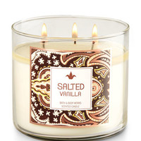 Salted Vanilla 3-Wick Candle | Bath And Body Works