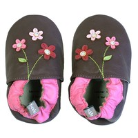 Tommy Tickle Floral Crib Shoes - Baby
