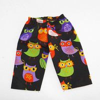 """Owl, Bitty Baby clothes also fits 14"""" Cabbage Patch Doll slim leg HANDMADE pants"""