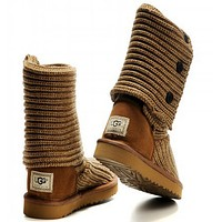 """UGG"" Women male Fashion Wool Snow Boots-"