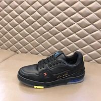 Louis Vuitton LV men's Women's Casual Running Sport Shoes Sneakers Leather Shoes 09152