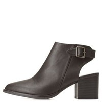Qupid Slingback Pointed Toe Booties by