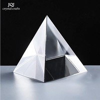 6CM K9 AAA Quartz Crystal Glass Pyramid Paperweight natural stones and minerals crystals Fengshui Figurine For Home Office Decor