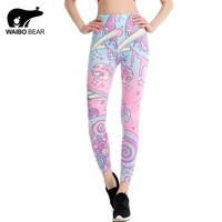 Pink Kawaii Printed Leggings