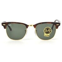 Tagre™ Cheap RayBan Ray-Ban ClubMaster Tortoise Frame G-15 Lens RB 3016 W0366 51MM NEW outlet