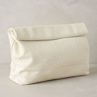 Marie Turnor Embossed Dejeuner Clutch Ivory One Size Clutches