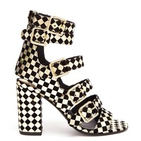 LAURENCE DACADE | Art Dana Harlequin Printed Leather and Suede Sanda | Browns fashion & designer clothes & clothing