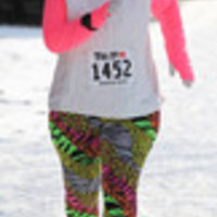 Carrie's Closet - neon pink and yellow animal print plus size leggings