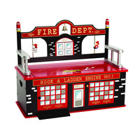 Levels of Discovery Firefighter Bench Seat w/ Storage - LOD20036