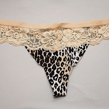 Get Bare Lace Thong