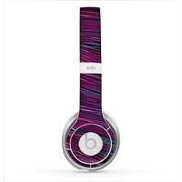 The Pink & Blue Vector Swirly HD Strands Skin for the Beats by Dre Solo 2 Headphones