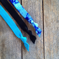 3 Hand Dyed Elastic Headbands by Elastic Hair Bandz on Etsy