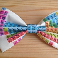 Periodic Table Inspired Hair Bow .. OR.. Bow Tie