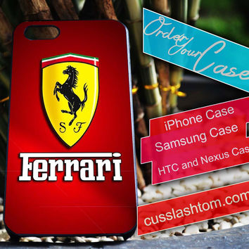 Ferrari Exclusive iPhone for 4 5 5c 6 Plus Case, Samsung Galaxy for S3 S4 S5 Note 3 4 Case, iPod for 4 5 Case, HtC One M7 M8