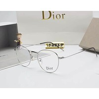 Dior Personality Fashion Popular Sun Shades Eyeglasses Glasses Sunglasses Silver I-A-SDYJ