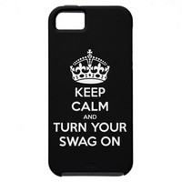 Keep Calm and turn your swag on iPhone 5 Cover from Zazzle.com