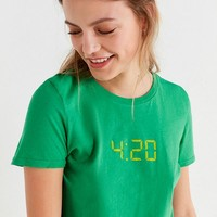 Future State 4:20 Cropped Tee   Urban Outfitters