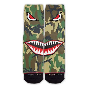 Function - Camo Shark Mouth Fashion Socks