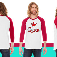 queen funny American Apparel Unisex 3/4 Sleeve T-Shirt
