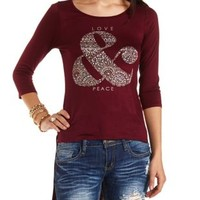 Love & Peace Graphic Tee by Charlotte Russe