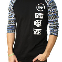 Young And Reckless Men's Highline Loop Raglan Graphic T-Shirt