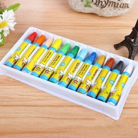 12 Colors Children Drawing Set Painting Stick Kid Art Supplies Primary Student Crayons Educational Graffiti Toy Easy To Clean