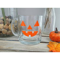Pumpkin Glass Coffee Mug