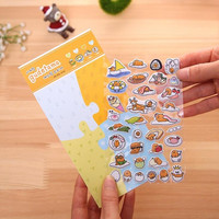 Novelty 3D Lazy Egg Gudetama Decorative Stickers Adhesive Stickers DIY Decoration Diary Stickers