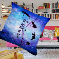 Peter Pan Never Grow Up Quote Disney Custom Design Pillow Cases Printing one side and two side
