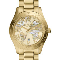 Michael Kors Women's Layton Gold-Tone Stainless Steel Bracelet Watch 44mm MK5959