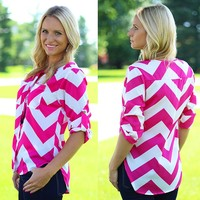 Keep It Causal Chevron Top