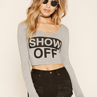 Show Off Graphic Crop Top