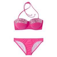 Xhilaration® Junior's Studded 2-Piece Bikini Swimsuit -Pink