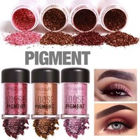Focallure Brand Metallic Glitter Loose Eyeshadow Powder Waterproof Shimmer Pigments Nude Color Eye Shadow Makeup Cosmetics