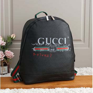 GUCCI Woman Fashion Leather Travel Bookbag Shoulder Bag