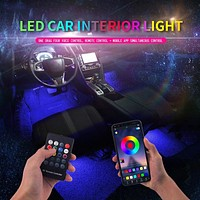 Led Car Foot Ambient Light With USB Cigarette Lighter Backlight Music Control App RGB Auto Interior Decorative Atmosphere Lights
