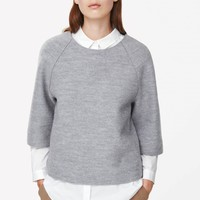 A-line wool top