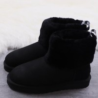 DHL Women's UGG snow boots warm cotton shoes Fluff Mini Quilted _1686248855-122