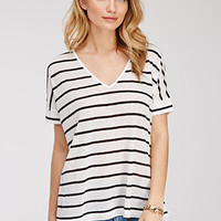 Striped Slub Knit Tee
