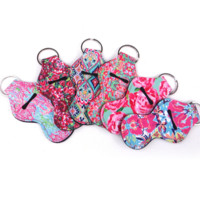 Keychain Chapstick Holder - Lily Pulitzer Inspired Designs - Pack of two