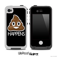 Black Crap Happens Skin for the iPhone 5 or 4/4s LifeProof Case
