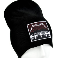 Metallica Beanie Metal Music Knit Cap Master of Puppets