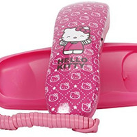 Hello Kitty Slim Line Phone - Pink (14062)